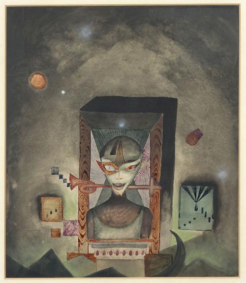 """Spiritual song"", Antoni Tàpies, 1950"
