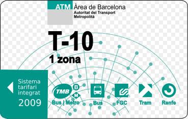 Ticket de métro T-10