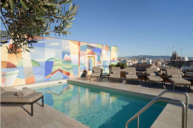 Majestic hotel piscine