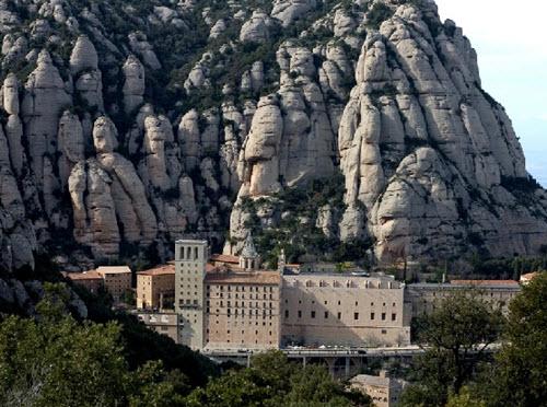 La montagne sacrée de Montserrat